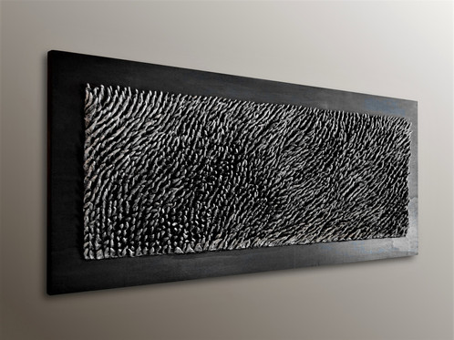 A Vibrant Black And White Wall Sculpture Perfect For Any Contemporary Home Or Office