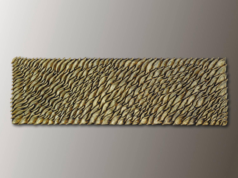 Brass Wall Sculpture 3D Wood Wall Art   Jeemado Art