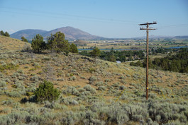View of Klamath Falls from the road