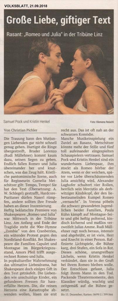 Volksblatt Rome und Julia