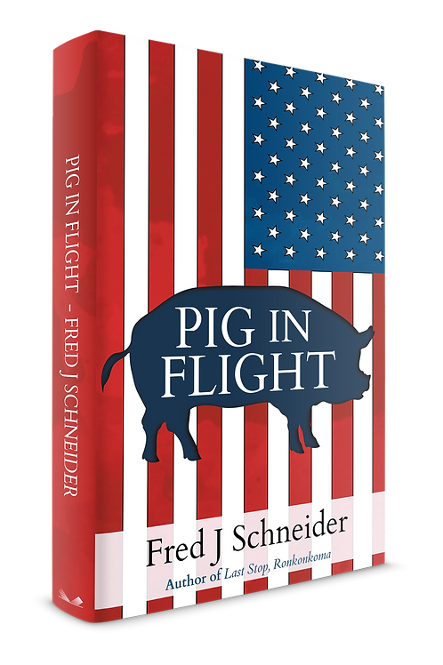 "Inscribed ""Pig In Flight"" Dust Jacket"