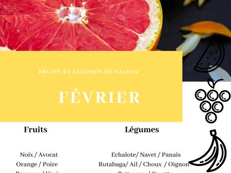 Fruits et légumes de saison : FEVRIER