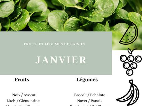 Fruits et légumes de saison : JANVIER