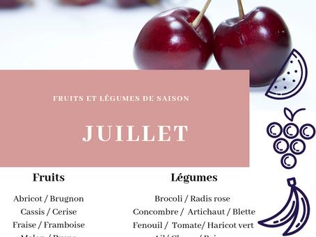 Fruits et légumes de saison : JUILLET