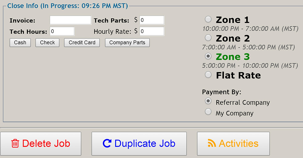PowerDispatch Automated Time Zone Selection