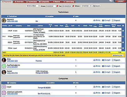 PowerDispatch Field Service Management Software - Payments/settlements Report