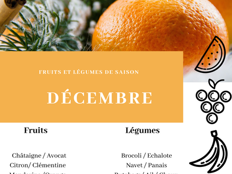 Fruits et légumes de saison : DECEMBRE