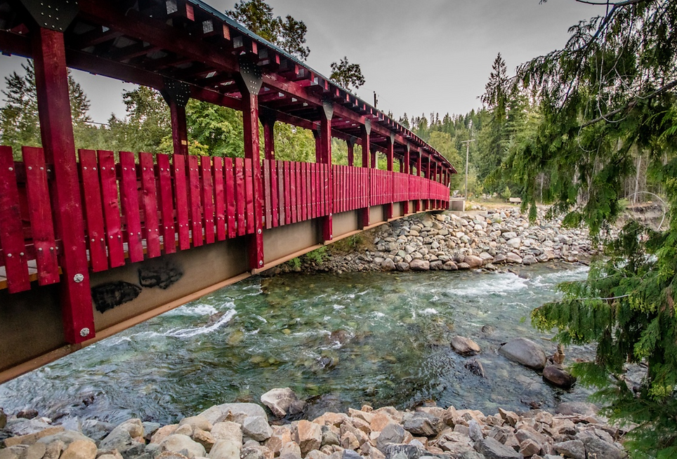 Kaslo River Trail Bridge