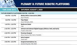 PLENARY II: FUTURE ROBOTIC PLATFORMS