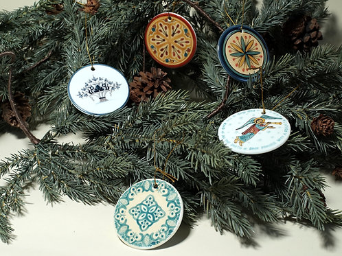 Christmas Tree Ornaments - Set of 5