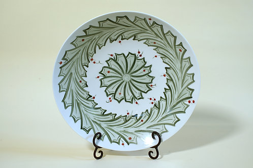 Large Festive Holly Bowl 13½""