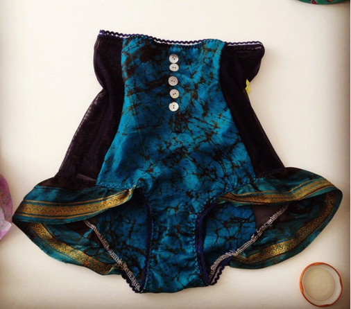 retro highwaisted freilly silk knickers