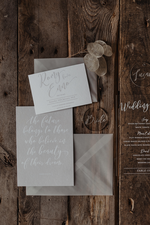 Hochzeitseinladung Blush and Cotton