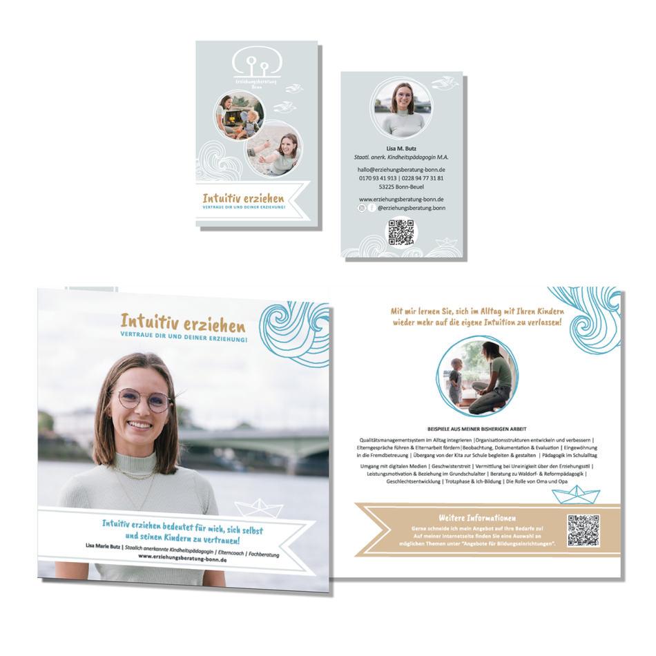 Visitenkarte & Broschüre   Lisa Butz Erziehungsberatung