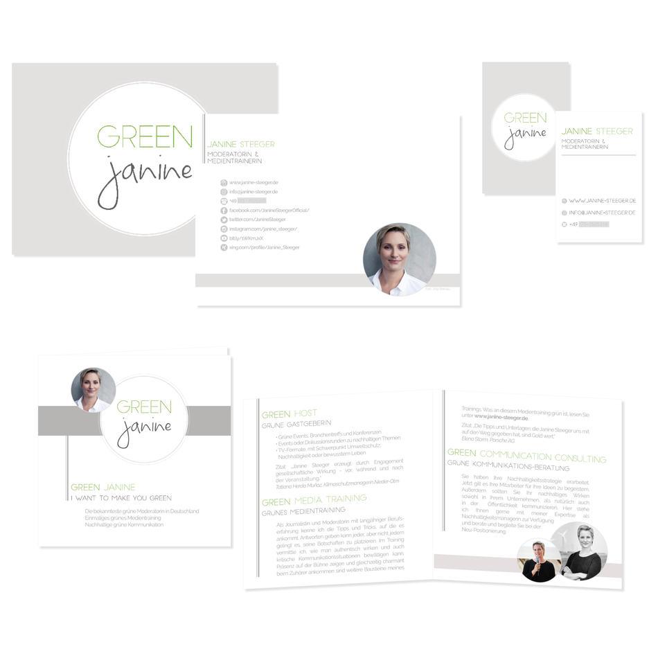 Visitenkarte, Flyer & Broschüre   Janine Steeger