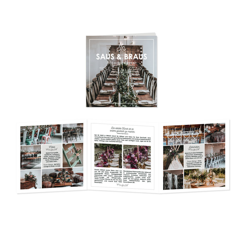 Broschüre   In Saus & Braus