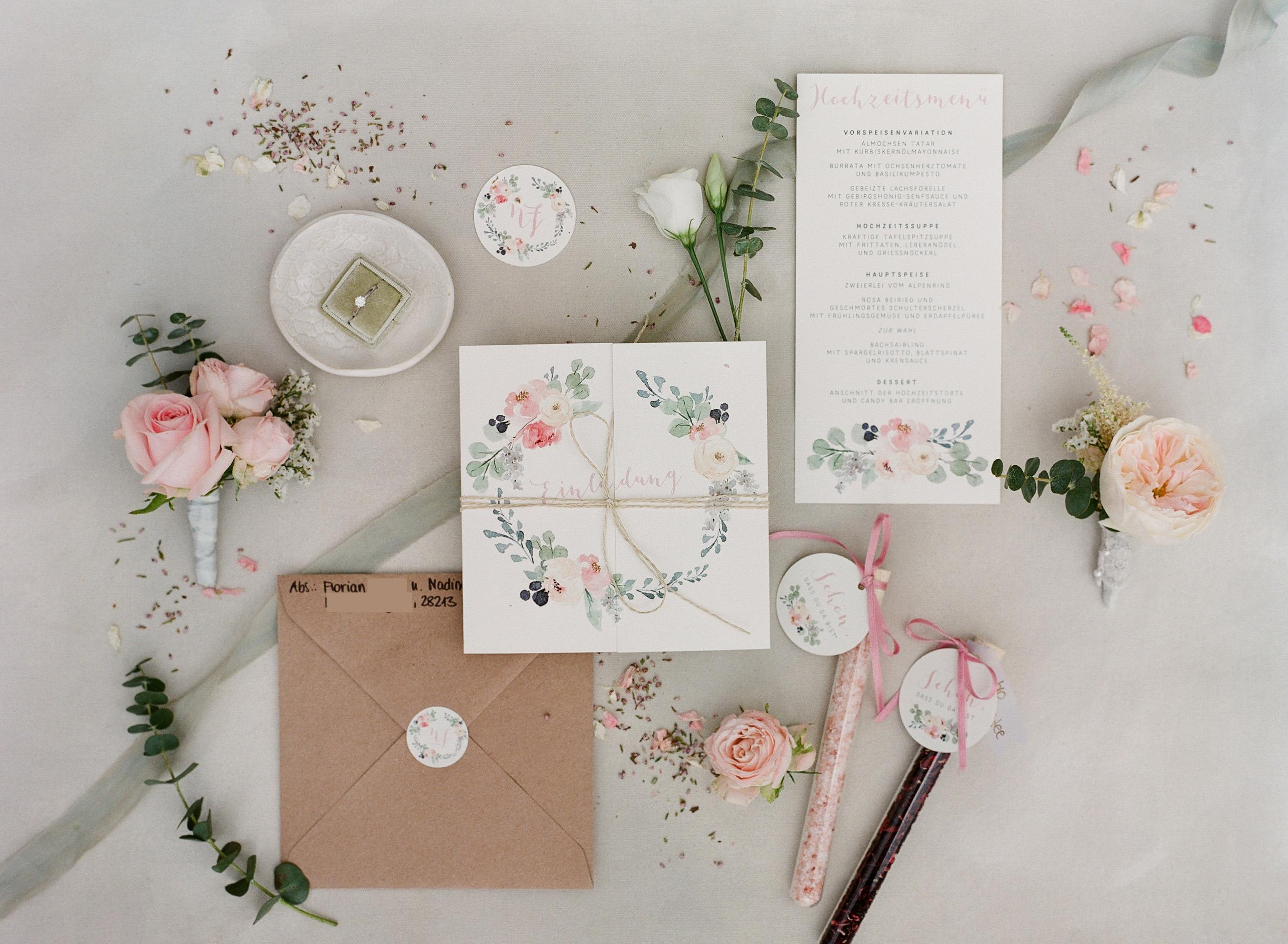 Hochzeitseinladung Peonie Love