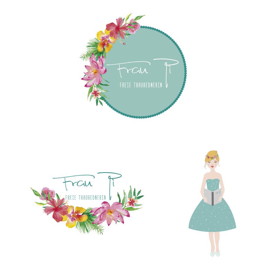 Logo + Keyvisual   Frau Pi Traurednerin