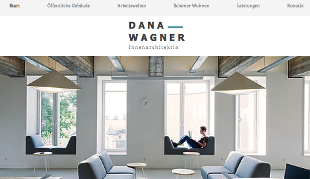 Designer website templates – Innenarchitekt-Portfolio