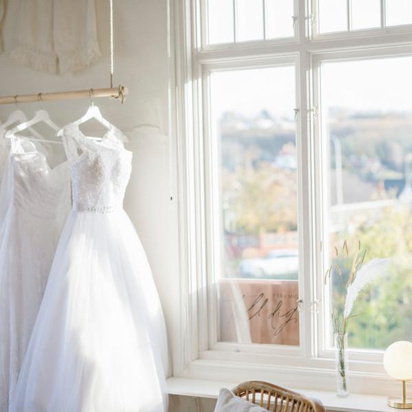 Showroom med brudklänningar