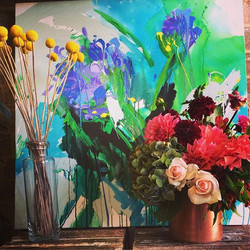 Copper, art and fleurs..