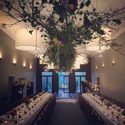 Instagram - Hanging floral chandelier made with @cheftonyworland's timber ladder