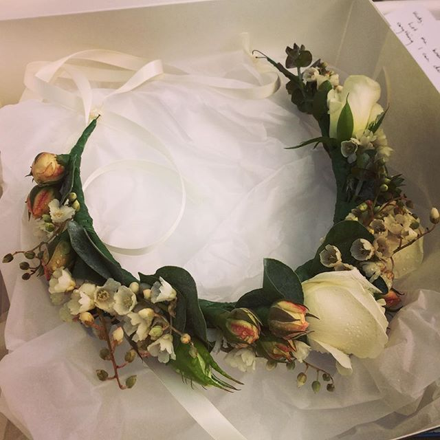 Flower crown going out the door today for a gorgeous hen's lunch in Sydney..