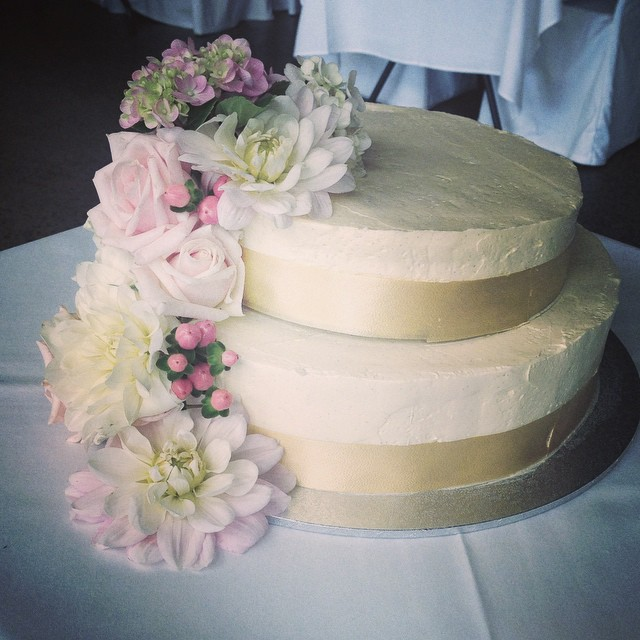 Instagram - First wedding for 2015! Wedding cake florals from yesterday's #summe
