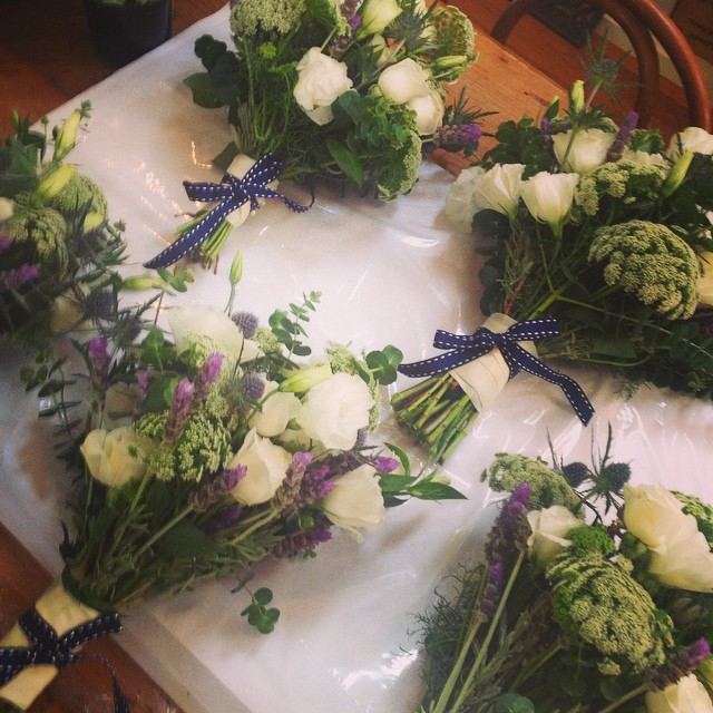 Instagram - White, green and fresh lavender from one of yesterday's gorgeous wed
