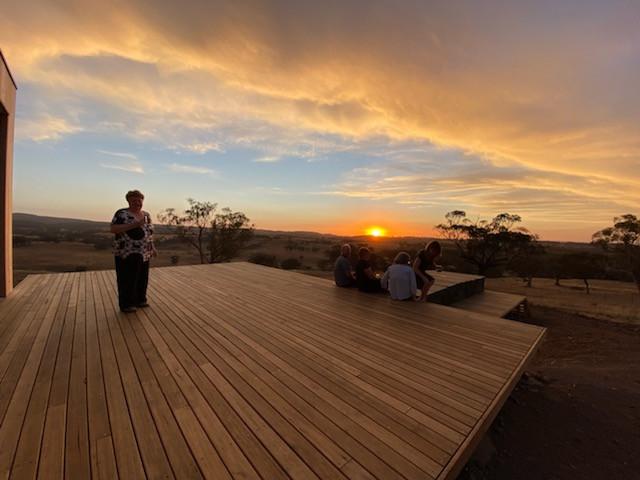 Borenore Deck at Sunset