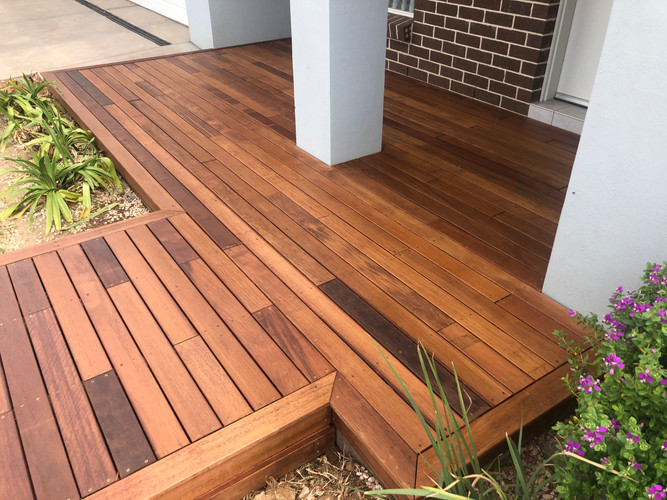 Decking for entrance to house