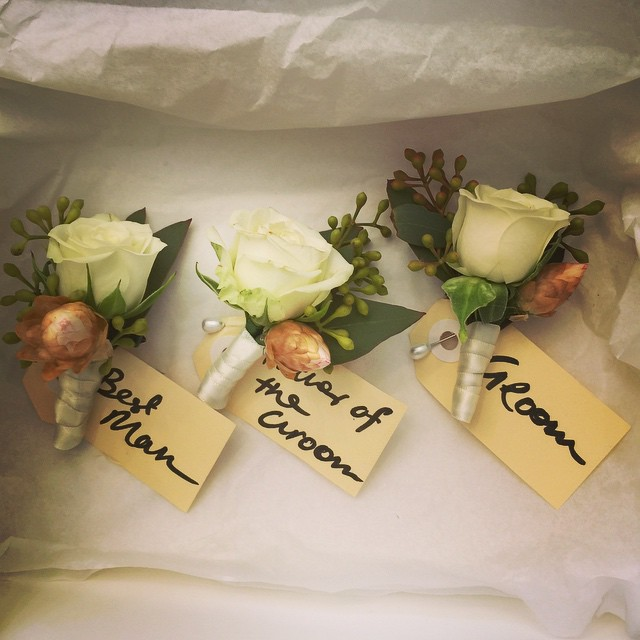 Instagram - For Harriet and Michael #buttonholes #botanicaflora #bespokeflorist