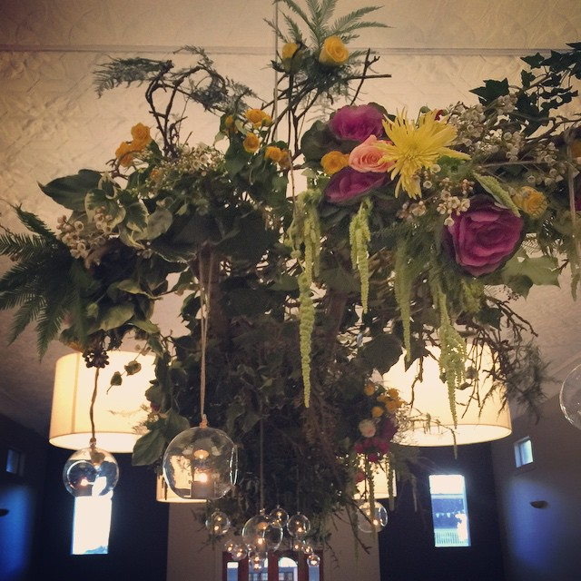 Instagram - Flower chandelier at Tonic for yesterday's winter wedding #tonic #mi