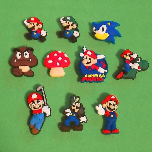 10pcs / Super Mario - 2D