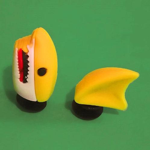 2pcs / 1 Yellow Shark - 3D