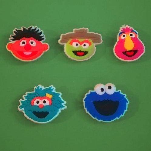 5pcs / Sesame Street - 2D