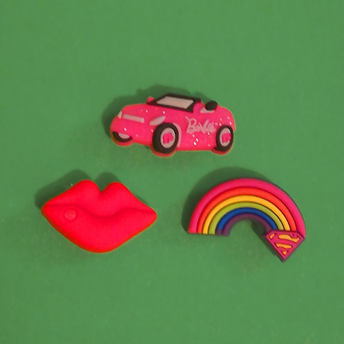 3pcs / Car Lips Rainbow - HQ