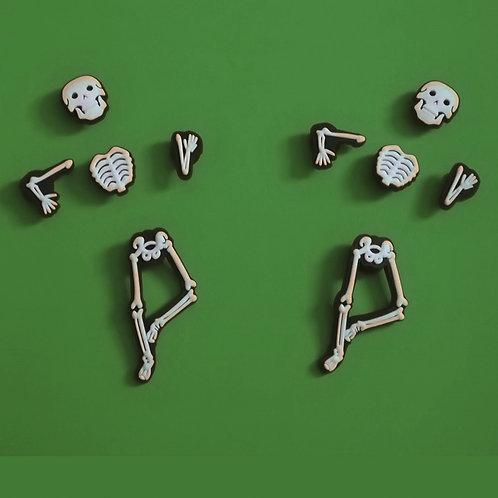 10pcs / 2 Skeleton - 2D