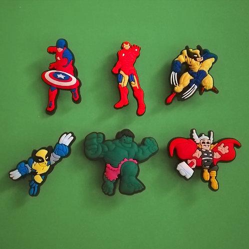 6pcs / Avengers - 2D
