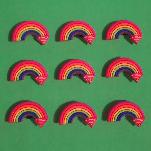 9pcs / Rainbow - 2D