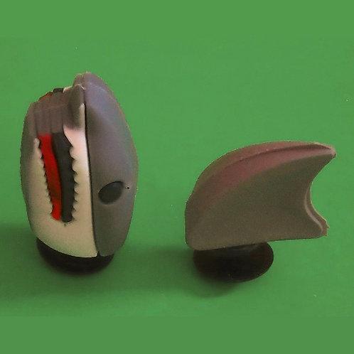2pcs / 1 Grey Shark - 3D