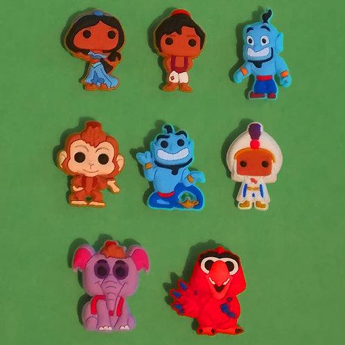 8pcs / Disney Aladdin - 2D