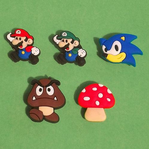 5pcs / Super Mario - 2D