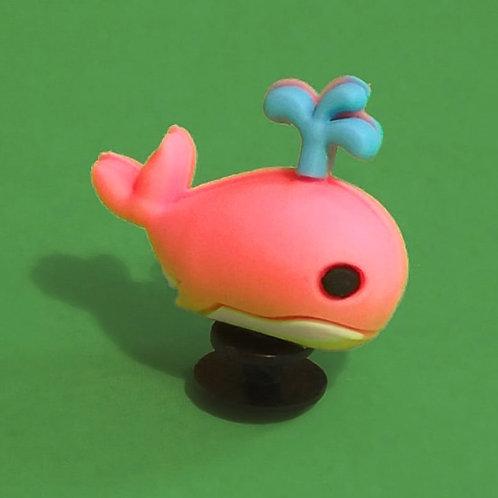 2pcs / Pink Whale - 3D