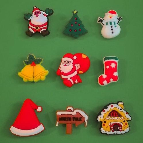 9pcs / Christmas Theme - 2D