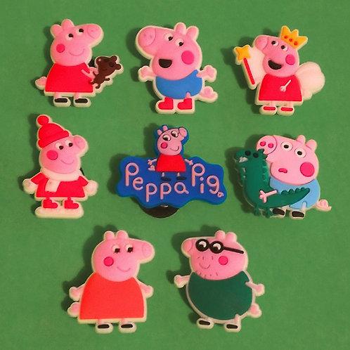 8pcs / Peppa Pig - 2D