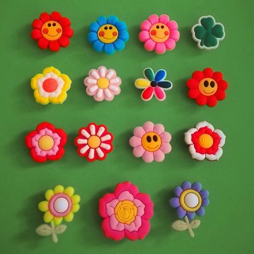 15pcs / Flowers - 2D