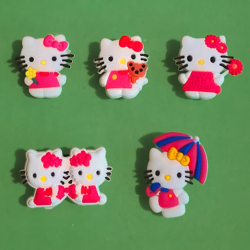 5pcs / Hello Kitty - 2D