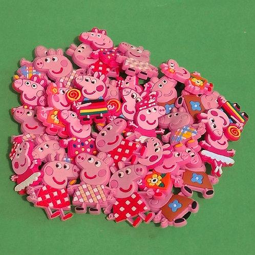 50pcs / Peppa Pig - 2D
