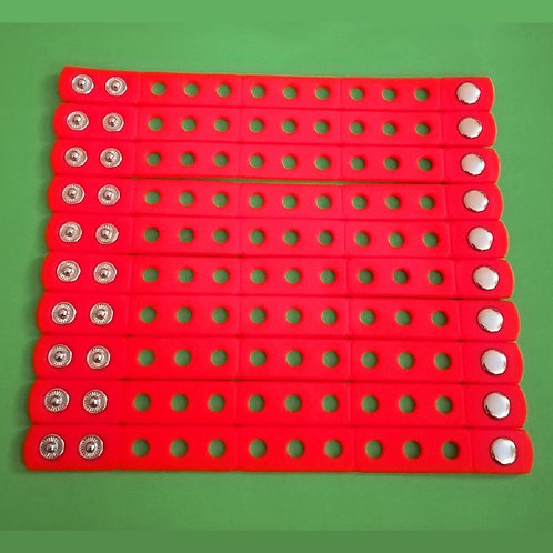 10pcs / Silicone Wristbands - Red